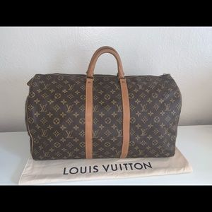 Authentic Louis Vuitton French company keepall 50